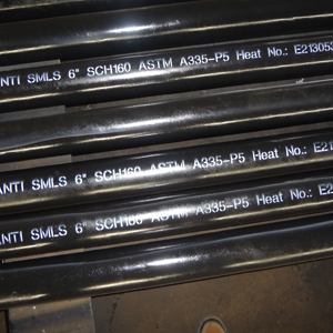 Alloy Steel Seamless Pipe, ASTM A335 P5, PE